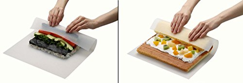 [Sushi Roll Cake Roll Swiss Roll Maker Silicone Rolling Mat Picnic lunch maker Bakeware Mat] (Sushi Roll Halloween Costume)