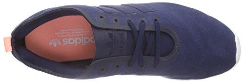 adidas Light Indigo Originals Orange Night Baskets Femme Indigo Basses Flash ZX Blau Smooth Bleu S15 Flux Night rfOBrpq