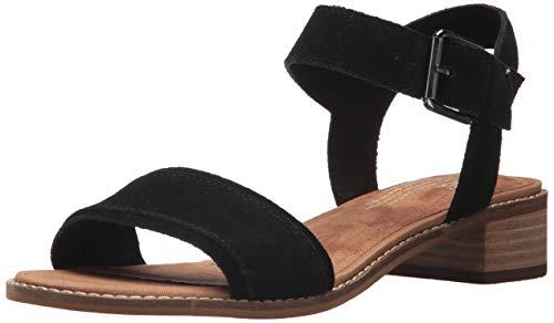 TOMS Women#039s Camilia Sandals 8 M US Black Suede