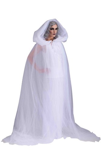Ghost Lady White Costume (Forum Novelties Women's The Haunted Adult Ghost Costume, White,)