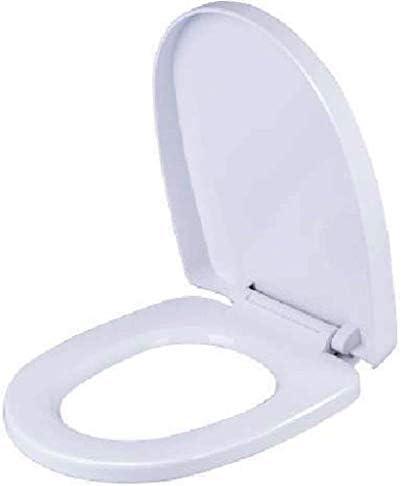 HZDXT 便座Uは、バスルーム、洗面所、バッファパッドクイックリリーストイレカバー付きトイレの蓋をシェイプホワイト、35.8CM * 45〜47センチメートル