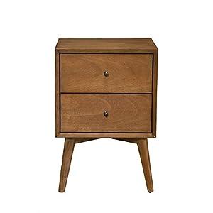 Alpine Furniture Flynn Mid Century Modern Drawer Nightstand
