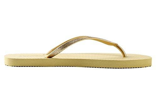 Flip-flop För Kvinnor - Yogamatta Eva Material Sommar Strand Bred Halk Starka Komfort Thong Glid Sandaler (us7, Sommar Gul)