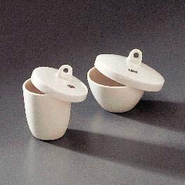 J235 - Porcelain Crucibles with Covers - Form : High Form - Kit of 1 ()