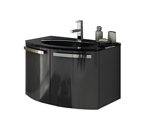 ACF ACF CD02-GA-Anthracite Cabinet/WH Sink Bathroom Vanity Set with Anthracite Cabinet/White Sink, 158.2″ L x 28″ W