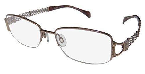 Charmant Line Art Women's Eyeglasses XL2068 XL/2068 BR Brown Optical Frame - Eyeglasses Xl Prescription