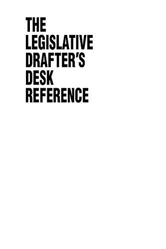 Download Legislative Drafter's Desk Reference, 2nd ed. Pdf