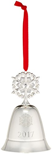 Lenox 2017 Annual Musical Bell Snowflake - Bell Ornament Christmas Silver