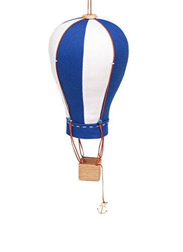 Hanging Textile Hot Air Balloon Mini Kid Room Decor Blue White Small