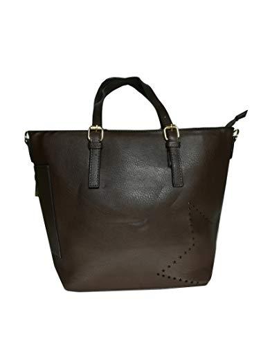 8b8db8a922 Ak Borsa Sintetica Donna In Chic Caffe E Tracolla Mano Con Cerniera Bags' A  Pelle rSwrqF