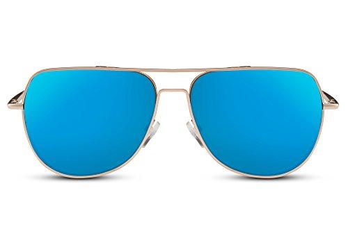 Metálicas Dorado10 Cheapass Hombres UV 400 Mujeres Espejadas Gafas de Sol Gafas Diseñador Aviador Piloto 6OHvan6