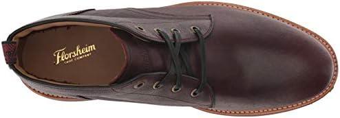 Florsheim Men's Foundry Plain Toe Dress Casual Chukka Boot, Burgundy, 8.5 D US