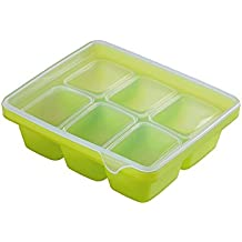 BENIAN Silicone Multi Cube Baby Food Container Ice Cube 50g 6 LIME