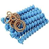 Bigodim Espiral para Cabelo Número 4, c/12, Hair Bonitinho, Azul