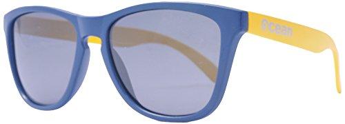 Sol única Sea Negro Ahumada Negro mate Talla Color Unisex de Sunglasses Gafas Ocean Amarillo 4OvIzI