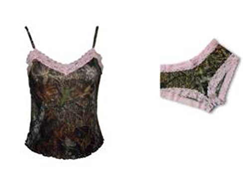 (Mossy Oak & Pink Lace Lingerie Camisole & Boyshort Camo GIFT Set (Mossy Oak Break Up & Pink Lace, Juniors XXL = Womens XL))