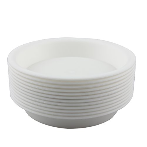 plastic plant pot white - 3