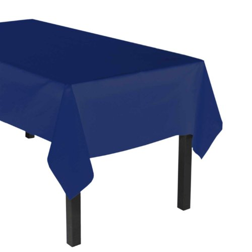 Party Essentials ValuMost Plastic Table Cover Available in 36 Colors, 54' x 108', Navy Blue