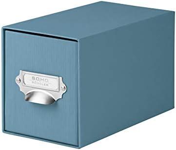 S.O.H.O. 1327452150 Denim CD índice de caja con asa y soporte, 1 ...