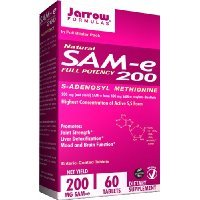 Jarrow Formulas SAM-e, 200 mg, 60 Count by Jarrow