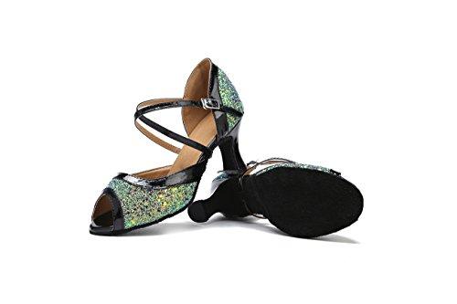 Miyoopark Green 7cm Salle femme Heel bal de gUUIqr