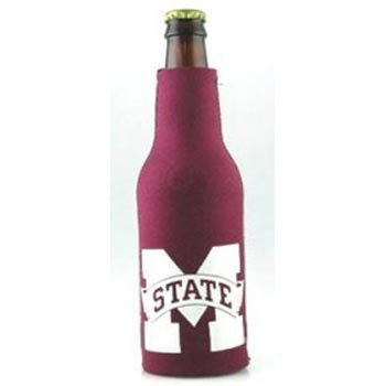 NCAA Mississippi State Bulldogs Zippered 12oz. Bottle Koozie - Maroon