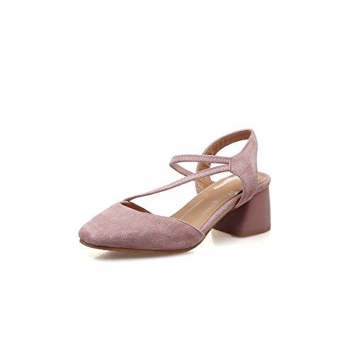 de Bouche Profonde Peu Pink Chaussures Femmes Boucle Backspace Racine Fait épais Sandales avec gqwE6nEv