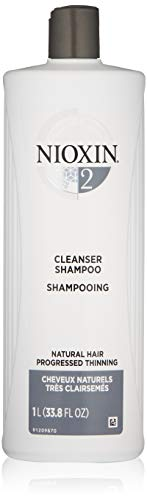 Nioxin System 1 Cleanser - Nioxin Cleanser Shampoo System 2 for Fine Hair with Progressed Thinning, 33.8 Ounce