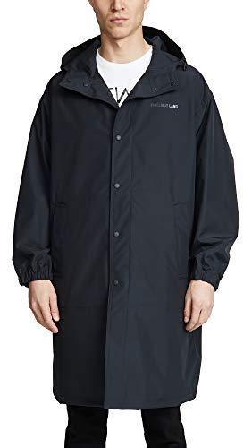 - Helmut Lang Men's Hooded Raincoat, Black, Large