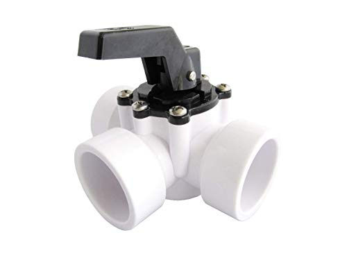 Fibropool Swimming Pool Diverter Valve, 3 Way, 1.5 Inch (Slip)