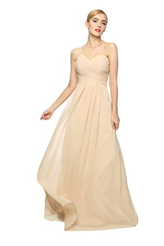 LOVEBEAUTY® Women's Sweetheart Chiffon Evening Dresses Bridesmaid Prom Dresses