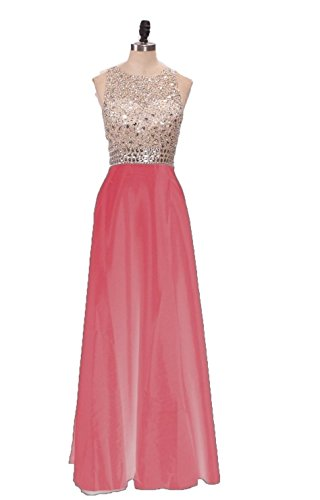 Gowns Long BessDress Evening Back Party 2017 Bodice Beaded Watermelon Prom Dresses Open BD219 agwHOvgxq