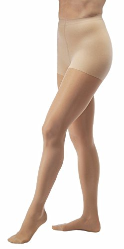 Jobst Ultrasheer 15-20 Waist High Closed Toe Pantyhose Stocking Natural Medium