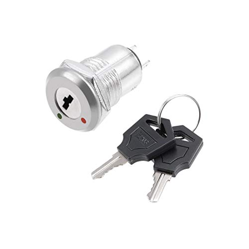 ZCHXD 12mm 2 Positions NO Off Electric Keylock Push Button Switch S1203: Amazon.com: Industrial & Scientific