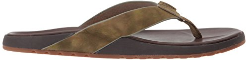 Le Homme Contoured Voyage dark Tongs Dwc camo Reef Marron Brown cfPqWpf7