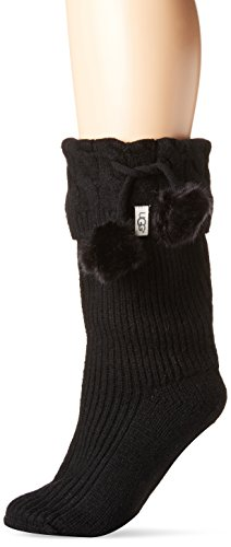 Ugg Boots Socks (UGG Women's Pom Short Rainboot Sock, Black, O/S)
