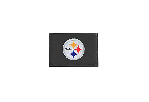 Pittsburgh Steelers Leather (NFL Pittsburgh Steelers Embroidered Genuine Leather Trifold Wallet)