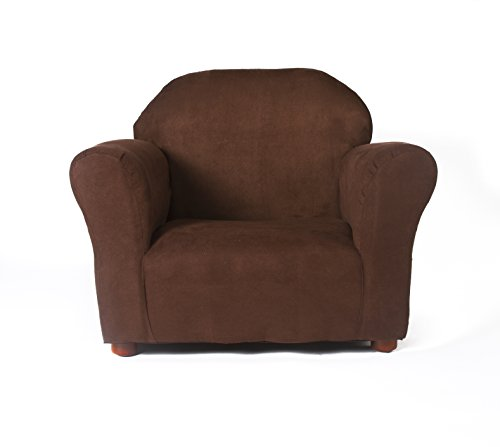 Keet Roundy Microsuede Children's Chair, Brown