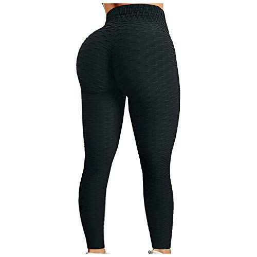 Gillberry Women's High Waisted Leggings Yoga Pants Tummy Control Booty Hip Lifting Workout Running Capri Tights