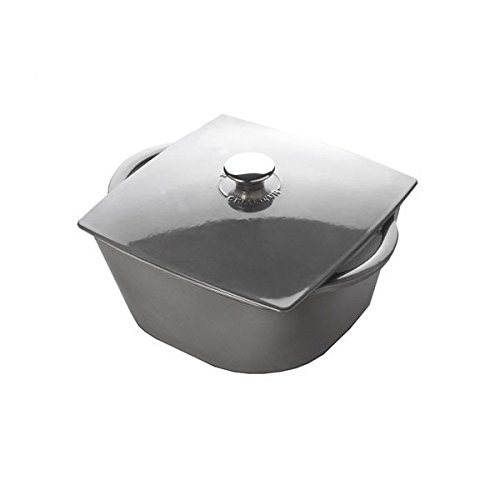 Chasseur 3-1/4-Quart Grey Rounded Square Dutch Oven