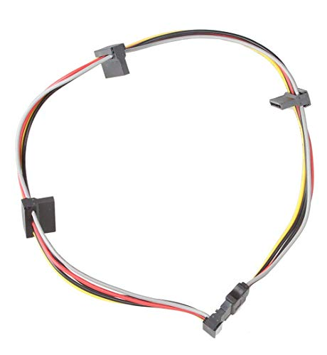 LINESO (1 Pack) SATA 15 Pin Male to 4xSATA 15 Pin Female Power Splitter Cables L=19.5Inches (50CM)