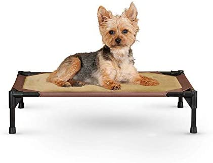 K H Pet Products Comfy Pet Cot Elevated Pet Bed Small Chocolate Tan 17 x 22 x 7
