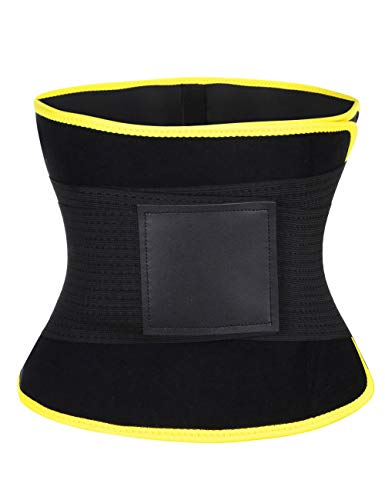 Wonder-beauty Women's Waist Trainer Belt Sport Girdle Shaperwear Waist Cincher Yellow M (Fit 35