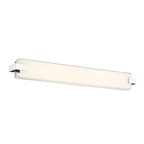WAC Lighting WS-79628-PN Bliss Bathroom Vanity & Wall LED Light Fixture, 28 Inches, Platinum