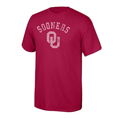 Elite Fan Shop NCAA Men's Oklahoma Sooners T Shirt Team Vintage Oklahoma Sooners Crimson - Oklahoma Sooners Mens T-shirts