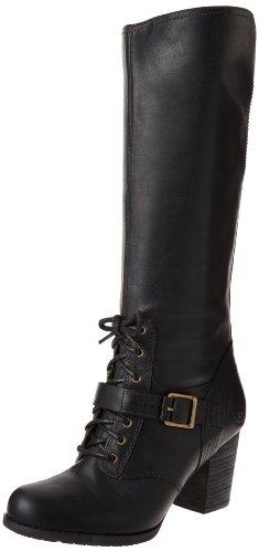 Timberland Women's Trenton Knee-High Boot,Black,7.5 M US