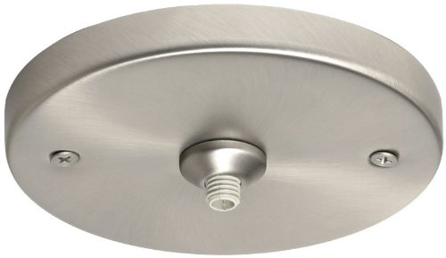 Besa Lighting T21Q-SN Monopoint Flat Canopy Glass, Satin Nickel Finish