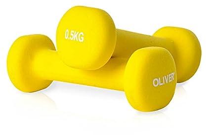 OLIVER - Mancuernas de Neopreno 0.5-5 kg halteras: Amazon.es ...