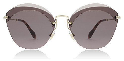Miu Miu MU53SS VX36X1 Red MU53SS Oval Sunglasses Lens Category 3 Size - Sunglasses Miu Miu Mens