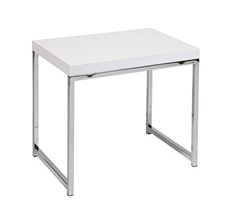 Work Smart/Ave Six WST09-WH AVE SIX Wall Street End Table, White - Office Star Work Smart Wood